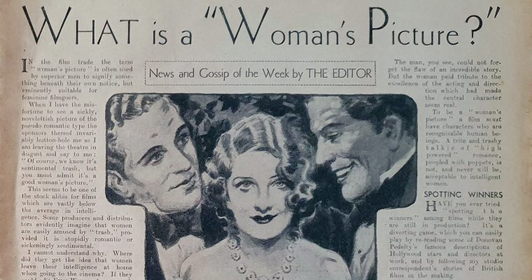 "What is a ""Woman's Picture?"" (1932 Film Feminism)"