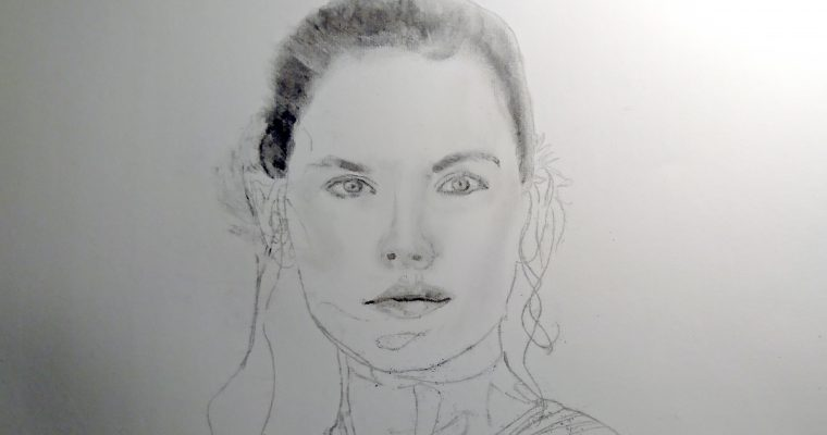 Design Process of: A Charcoal Drawing, Rey