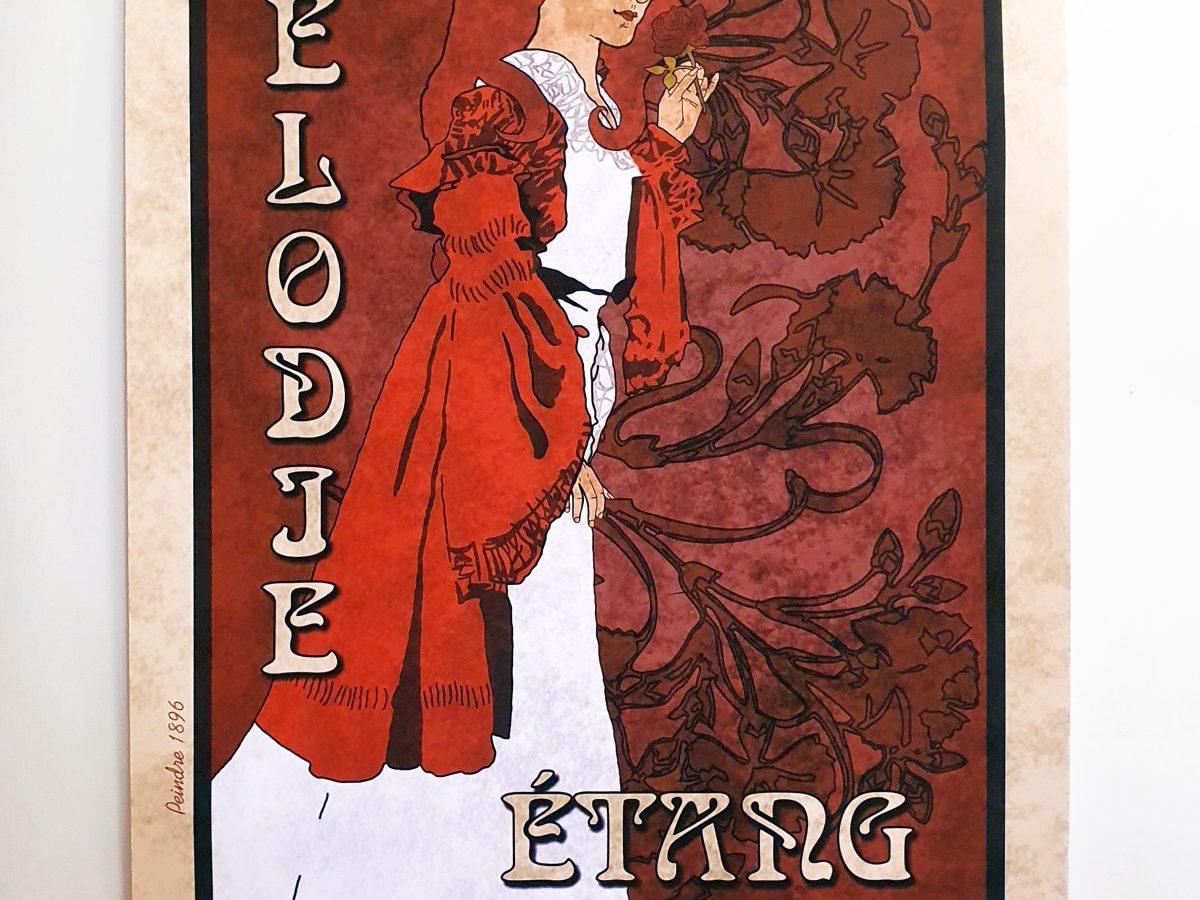 Amelia Art Nouveau Poster