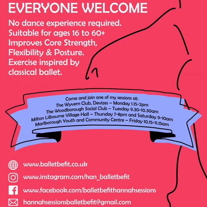 Ballet Be Fit Poster For Hannah Sessions