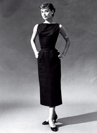 Chanel's The Little Black Dress Worn By Audrey Hepbrun 1950s