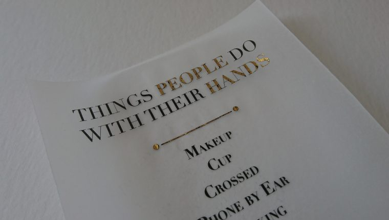 What People Do With Their Hands