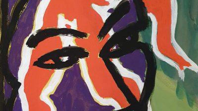 Purple Face & Orange Figure Thumbnail