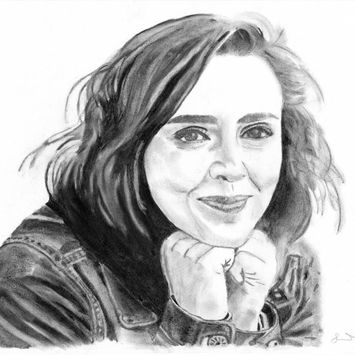 Hannah Witton - Charcoal Drawing