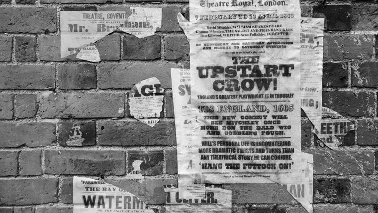 Upstart Crow 1840 Letterpress Playbill