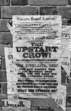 Upstart Crow 1840 Letterpress Playbill