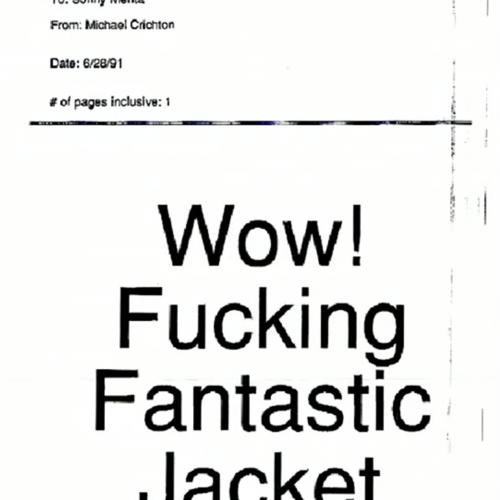 Michael Crichton's Fax