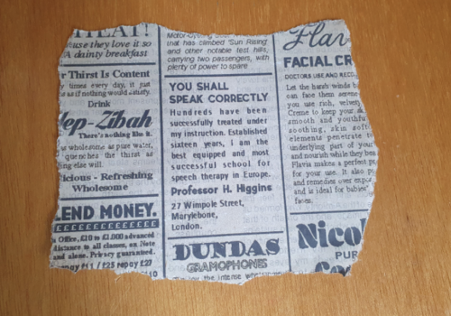 Newspaper Clipping Final Tear Front