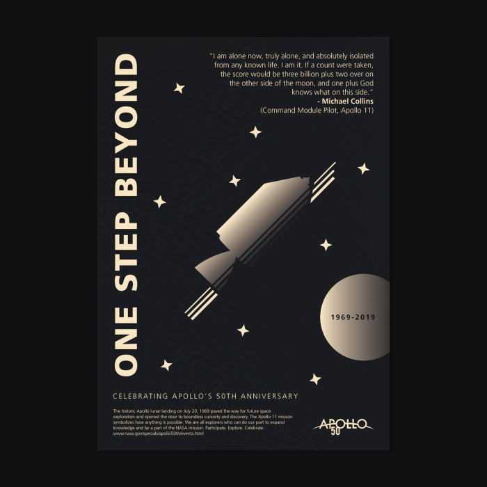 One Step Beyond Apollo 50 Poster