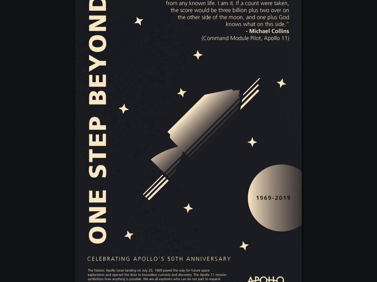 One Step Beyond Apollo 50 Poster