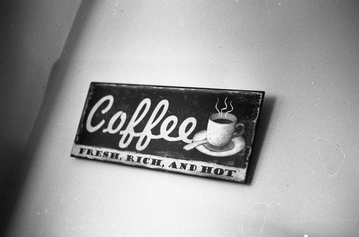 35mm B&W Photography Cafe